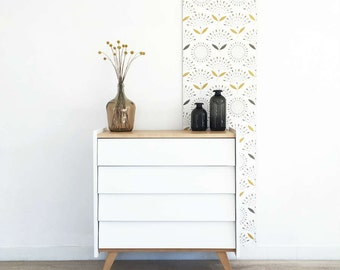 Dresser, chest of drawers, storage, mid century modern, vintage & scandinavian inspiration, white color, Rosalie model