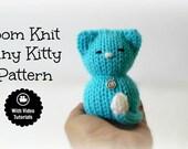 Loom Knitting PATTERNS Tiny Kitty Cat Amigurumi Toy - Includes Video Tutorial
