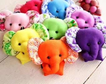 ELEPHANT / Set 100 Elephant keychains, Elephant keychain, Animal keychain, Keychain set, Fabric keychain, Stuffed elephant, Key ring, Gift