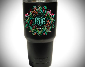Yeti Decal, Valentine's Day, Yeti Tumbler Decal, Yeti Monogram Decal, Yeti Cup Decal, Monogram Decal, Personalize Tumbler, Yeti Sticker
