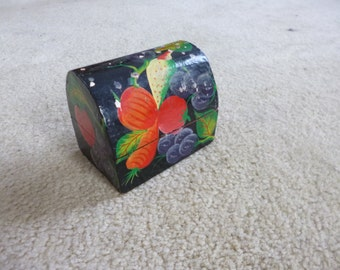 Hand made wooden arched keepsake box from Haiti
