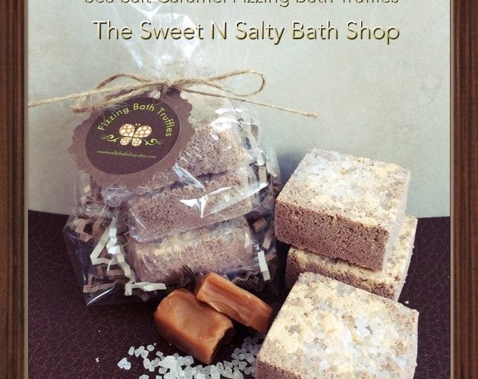Sea Salt Caramel Fizzing Bath Truffles Set of Three