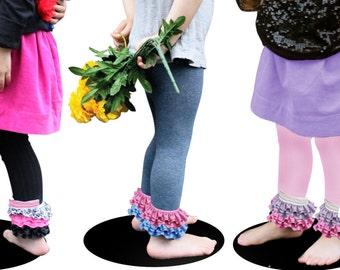 Girls Ruffle Leggings,DIY, Girls Footless tights , Baby Girls Tights, Baby Girls Leggings, Girls Leggings, 0-12m to 6-8y
