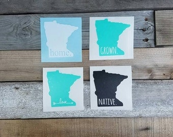 Decal Sticker Native Local Love Decal State Iowa Car Laptop - Custom vinyl decals minnesota
