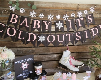 Baby It's Cold Outside, Baby Shower Banner, Winter Baby Shower