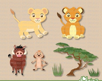 Cute Lion King, simba, nala, timon, pumba, lion king clipart, lion king inspired
