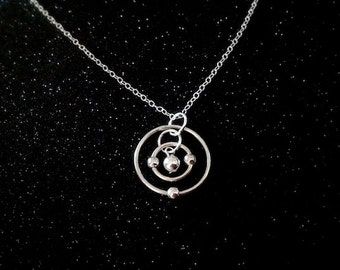 Lithium Atom Necklace (Sterling Silver)