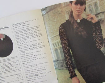 Vintage (1960s) knitting book,  ' 6 Norma Tullo 'Gentle Look' Handknits', Patons knitting Book 750
