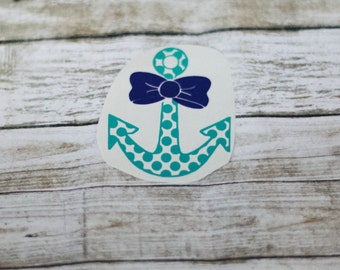 Bow Decal Etsy - Anchor monogram car decal