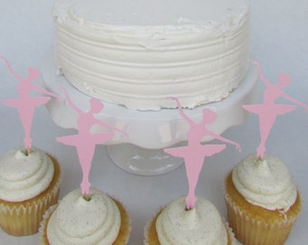 Ballerina pink cupcake toppers