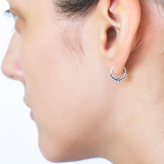 Tribal earring (single). helix earring. tragus piercing. cartilage earring. tragus earring. tribal earrings. tiny hoops. tiny earrings.