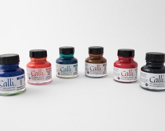 Calli acrylic calligraphy ink for dip pens