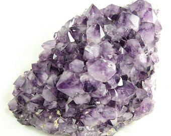 Large Amethyst Geode (Brazil #6730) 11.5 inches tall, Purple Crystals for Display, Decoration, Healing, Purifying and Protective Energy