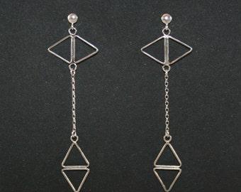 Earrings rhombus