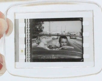 """Marilyn Monroe and Cary Grant """"Monkey Business"""" 1952 Film Cell Keyring"""