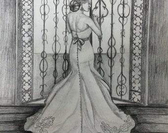 Custom Bridal Drawing 2