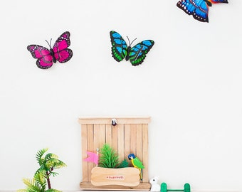 Decorative butterflies of paper with magnet