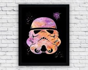 Stormtrooper Helmet Printable Wall Art, Star Wars wall decor, Stormtrooper Helmet poster