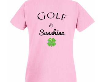 Golf & sunshine - NEW shirt (Pink)
