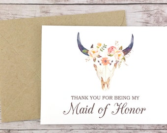Thank You For Being My Maid of Honor Card, Wedding Card, Maid of Honor Gift, Maid of Honor Thank You Card - (FPS0010)