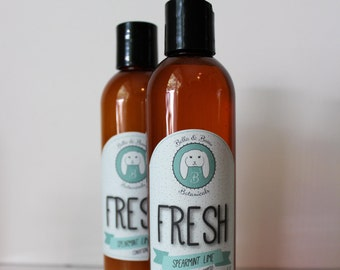 Organic Shampoo and Conditioner set -FRESH- Sulfate Free, Paraben Free, All Natural, made with organic extracts and oils - Spearmint Lime