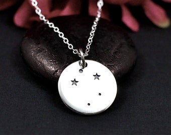 Libra Constellation Necklace - Libra Star Sign Necklace in Sterling Silver