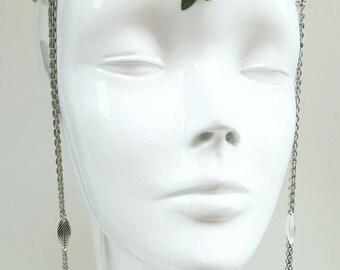 Woodland tribal headpiece
