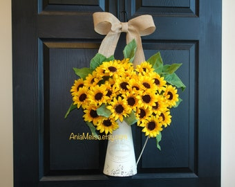 fall wreaths summer welcome wreaths for front door sunflowers outdoor wreaths decor Thanksgiving outdoor wreaths fall wedding wreaths