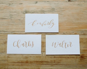 Calligraphy Place Cards / Escort Cards - Handwritten for Modern Weddings | Invitations | Parties