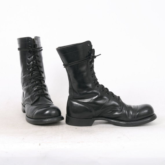 corcoran mens us 9 black leather jump lace up combat