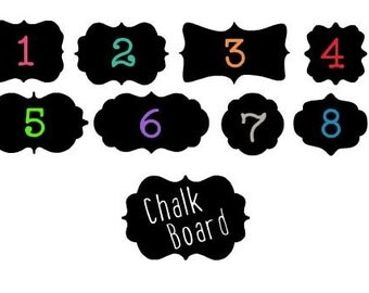 Chalk Board Tags - Any Pattern - Chalk Board Labels - Chalkboard - Chalk Board - Tags - Labels - Name Tags - Black Tags