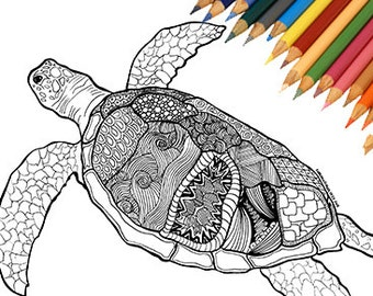 Zentangle turtle Etsy