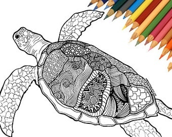 Beach coloring page Etsy