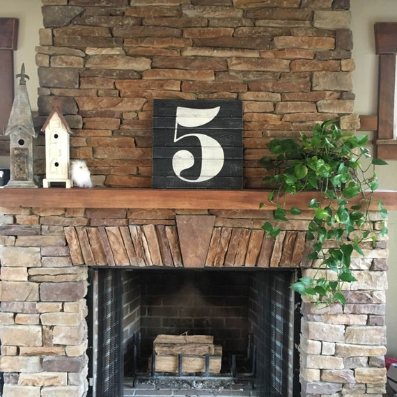 Large Number Wall Decor : Large number wall art wooden numbers by elevenowlsstudio