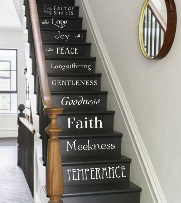 Fruit Of The Spirit Stair Decals Vinyl Decal Galatians 5 22 23