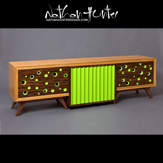Mid Century Modern Style Media Console / TV by NathanHunterDesign