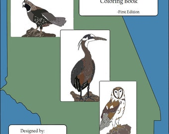 Birds of Ventura County Coloring Book - First Edition