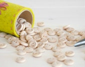 """25 or 50 Wooden Buttons - 1/2"""" Wooden Buttons in a muslin bag - Natural wood round buttons - Wooden Buttons"""