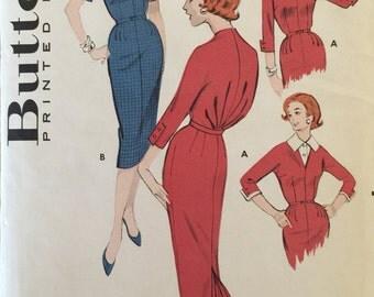 "VTG 8702 Butterick (1958). Misses' blouse & skirt.  Size 14, Bust 34"".  Complete, unused, FF. Excellent condition."
