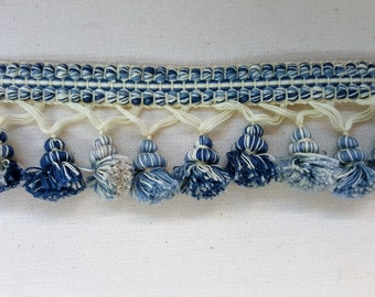 Nina Campbell Custom Fringe Trim - Blue