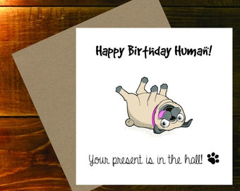 Birthday Card from the Pug!