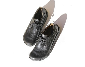 Men's Black Leather Birkenstock Oxford Shoes / size 11