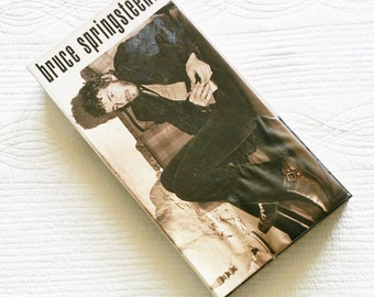 """Vintage """"Bruce Springsteen Tracks"""", Four Disk Set with Sepia Tone Photographs and Lyric Filled Display Case Book, Olives and Doves"""