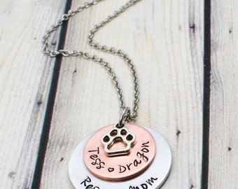 Rescue Pet Necklace - Pet Mom Jewelry - Cat Lover gift - Dog Lover Jewelry - Cat Mom Jewelry - Dog Mom Necklace - Dog Rescue - Cat Rescue