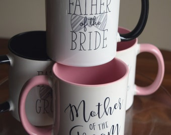 Mother of the Bride, Mother of the Groom, Father of the Bride, Father of the Groom Coffee Mug, Mother's Day Gifts for Mom, Gifts for Dad
