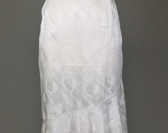 Sale! White, 20s Inspired, 80s, Art Deco Skirt // 1920s, Gatsby, Flapper, 30s, Hollywood Regency, Costume, Women's Size Small