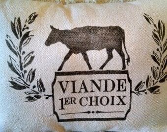 """12""""x16"""" Meat...It's What's for Dinner Recycled Cotton Canvas Pillow Cover"""