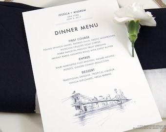 New York Skyline Dinner Menus (Sold in sets of 25)