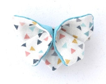 Clip hair origami blue butterfly
