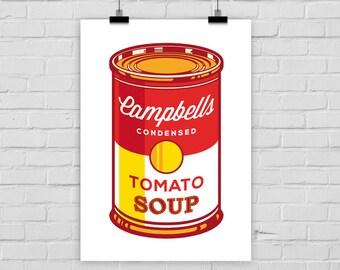 print poster CAMPBELLS SOUP 1 pop art